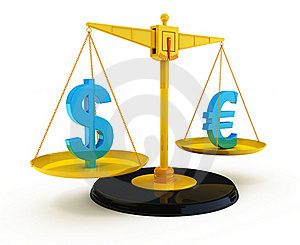 Dollar And Euro Stock Images - Image: 17643144