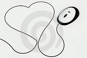 Heart Drawn With Mouse Wire Stock Images - Image: 17643604