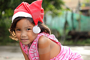 Girl In Santa Hat Royalty Free Stock Images - Image: 17644299