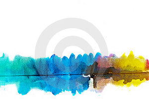Abstract watercolor hand painted background Royalty Free Stock Image