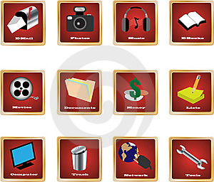Pc Icons 1 Royalty Free Stock Images - Image: 17645749