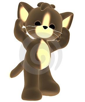 Brown Toy Cat Royalty Free Stock Photos - Image: 17646038