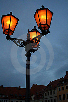 Old Style Street Lights Royalty Free Stock Photography - Image: 17648277