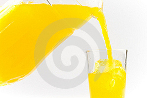Juice Poured Into A Glass Stock Image - Image: 17652631