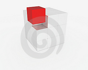 Abstract Cube Royalty Free Stock Image - Image: 17654546