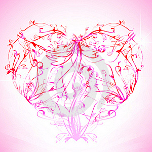Floral Heart Royalty Free Stock Photos - Image: 17654788