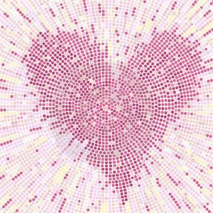 Valentine Mosaic Background Stock Photos - Image: 17663733
