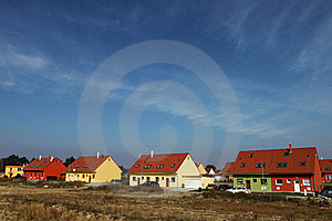Semi-detached Houses Stock Photo - Image: 17663790
