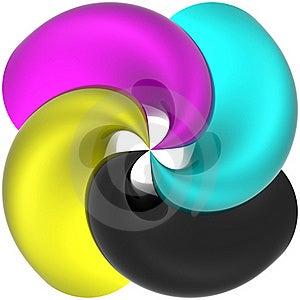 Spiral CMYK Stock Photography - Image: 17663812