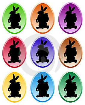 Gradient Colored Easter Eggs Royalty Free Stock Photo - Image: 17664535