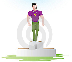 Champion On The Podium Royalty Free Stock Photos - Image: 17665528