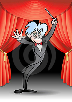 Male Opera Conductor Performance Stock Images - Image: 17666874
