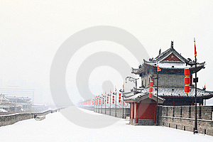 Rampart Coverd By The First Snow Of 2011 Royalty Free Stock Photo - Image: 17667075