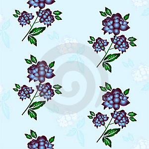 Seamless Floral Background. Repeat Many Times. Royalty Free Stock Image - Image: 17667106