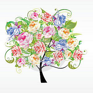 Tree From Flowers Stock Photos - Image: 17667233