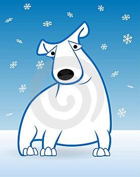 Polar Bear And Snowfall Stock Images - Image: 17668854