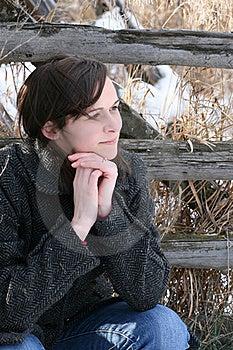 Female In Field Stock Photo - Image: 17672380