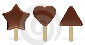 Set Of Chocolate Ice-cream Royalty Free Stock Images - Image: 17672449