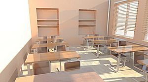 Empty Classroom Stock Image - Image: 17673751