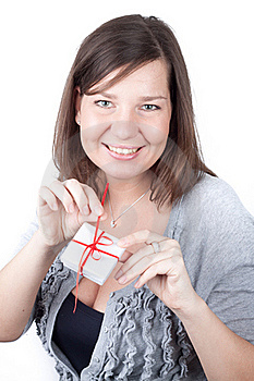 Young Girl Holding Valentine Gift Stock Photo - Image: 17674120