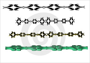 Ornate 3d Borders Royalty Free Stock Images - Image: 17674129