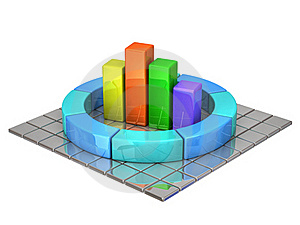 Business Graph Royalty Free Stock Photography - Image: 17674797
