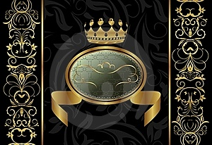 Ornate Background With Crown Stock Images - Image: 17674984