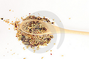 Spices Mixed Over The Spoon Royalty Free Stock Photos - Image: 17675528