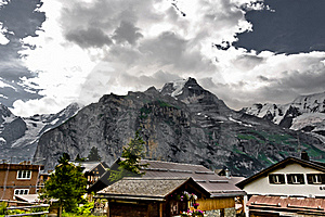 Murren And The Bernese Alps Royalty Free Stock Image - Image: 17675706