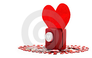 Stapler Piercing The Heart Royalty Free Stock Photo - Image: 17676745