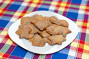 Cookies On A Plate Royalty Free Stock Photography - Image: 17677387
