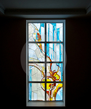 Stained-glass Window Royalty Free Stock Photo - Image: 17677655