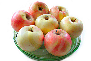 Apples On The Plate Stock Photos - Image: 17677983