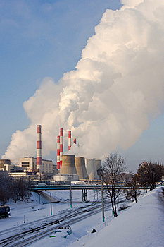 Heating And Power Plant Royalty Free Stock Photography - Image: 17678357