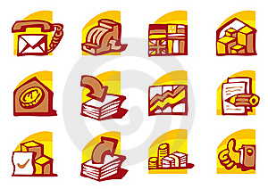 Business Icons Stock Image - Image: 17680051