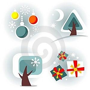 New Year Symbols Set Royalty Free Stock Images - Image: 17685059