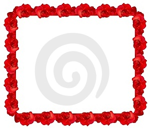 Red Rose Frame Royalty Free Stock Images - Image: 17688509