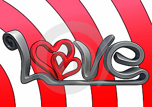 3D Love Text Royalty Free Stock Image - Image: 17689726