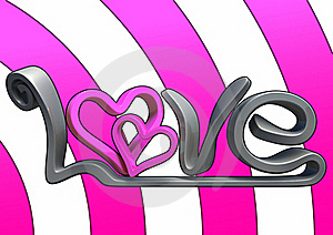 3D Love Text Stock Photos - Image: 17689733