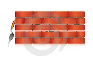 Brick Wall With Tool Royalty Free Stock Photo - Image: 17691725