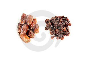 Piles Of Raisins And Dates Stock Image - Image: 17691831