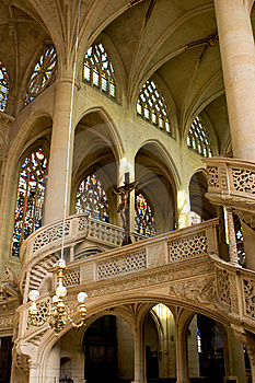Interior Of Saint Etienne Church Stock Photo - Image: 17692190
