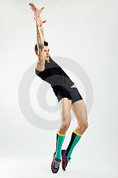 Young Man Dancing In Studio Stock Image - Image: 17692531