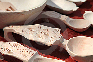 Carved Wooden Spoons Stock Photo - Image: 17692640