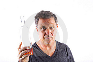 Man Drinking Alcohol Stock Images - Image: 17693804