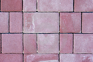 Red Cube Paving Stone Royalty Free Stock Image - Image: 17694076