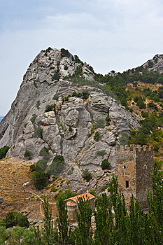 Genoese Medieval Fortress Royalty Free Stock Images - Image: 17694399