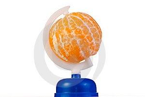 Globe From Peeled Tangerine Stock Image - Image: 17695581