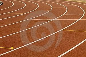 Stadium With Running Tracks Royalty Free Stock Images - Image: 17697049