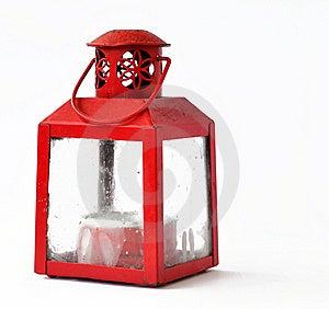 Red Candle Lantern Stock Image - Image: 17699511